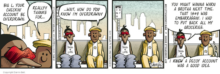 Comic Strip Darrin Bell  Candorville 2015-04-10 check-in