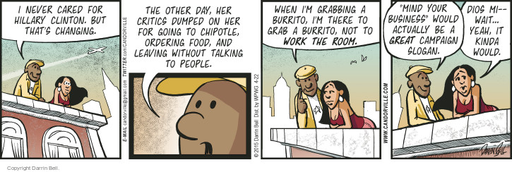 Comic Strip Darrin Bell  Candorville 2015-04-22 food critic