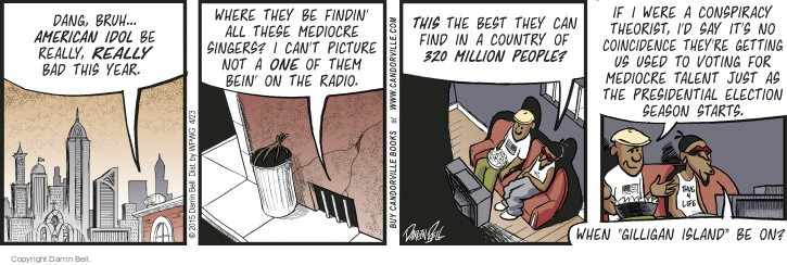 Comic Strip Darrin Bell  Candorville 2015-04-23 reality