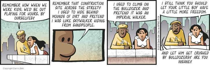 Comic Strip Darrin Bell  Candorville 2015-04-24 Star Wars