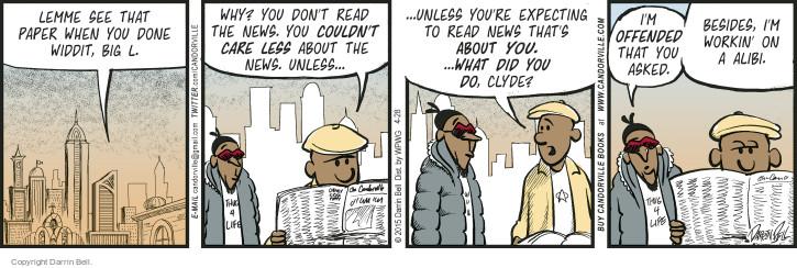 Comic Strip Darrin Bell  Candorville 2015-04-28 criminal