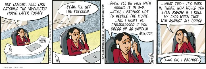 Comic Strip Darrin Bell  Candorville 2015-05-01 embarrassment