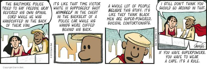 Comic Strip Darrin Bell  Candorville 2015-05-13 superhero