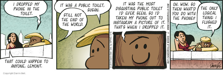 Comic Strip Darrin Bell  Candorville 2015-05-16 drop