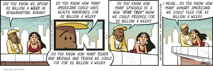 Comic Strip Darrin Bell  Candorville 2015-05-18 Afghanistan
