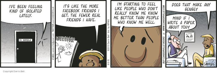 Comic Strip Darrin Bell  Candorville 2015-06-05 Facebook friend