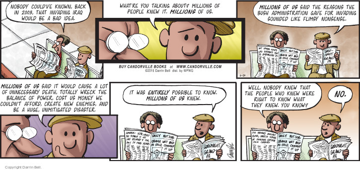 Comic Strip Darrin Bell  Candorville 2015-06-14 founding