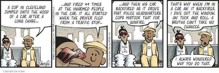 Comic Strip Darrin Bell  Candorville 2015-06-08 policeman