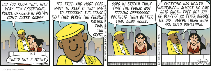 Comic Strip Darrin Bell  Candorville 2015-06-09 gun culture