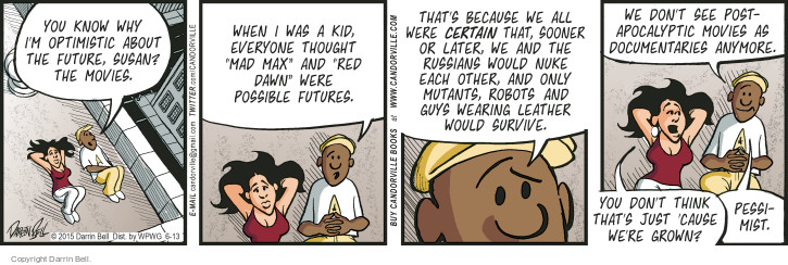 Comic Strip Darrin Bell  Candorville 2015-06-13 survive
