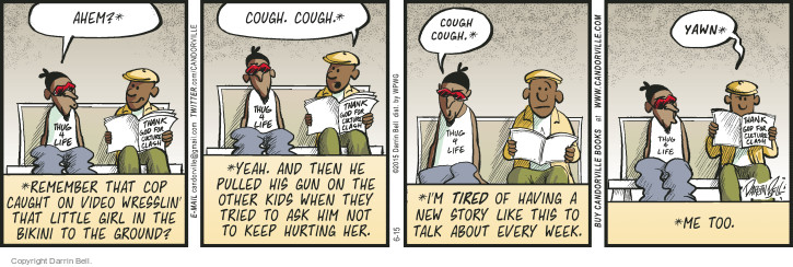 Comic Strip Darrin Bell  Candorville 2015-06-15 cough