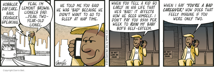 Comic Strip Darrin Bell  Candorville 2015-06-23 two-year-old