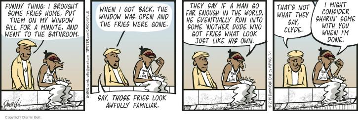 Comic Strip Darrin Bell  Candorville 2015-07-01 dude
