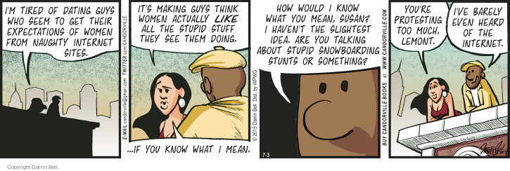 Comic Strip Darrin Bell  Candorville 2015-07-03 barely