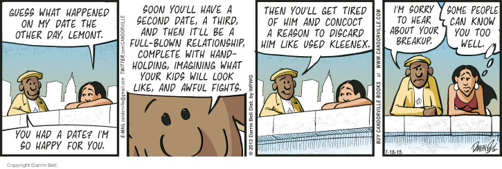 Comic Strip Darrin Bell  Candorville 2015-07-18 familiar