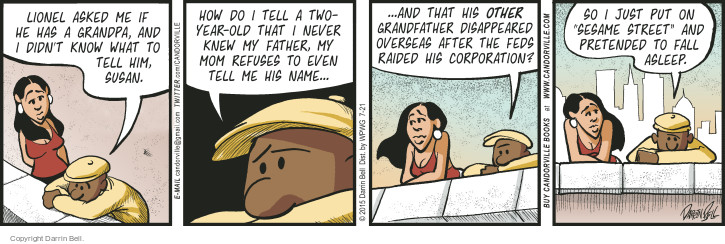Comic Strip Darrin Bell  Candorville 2015-07-21 grandfather