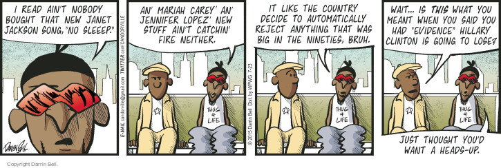 Comic Strip Darrin Bell  Candorville 2015-07-23 big head
