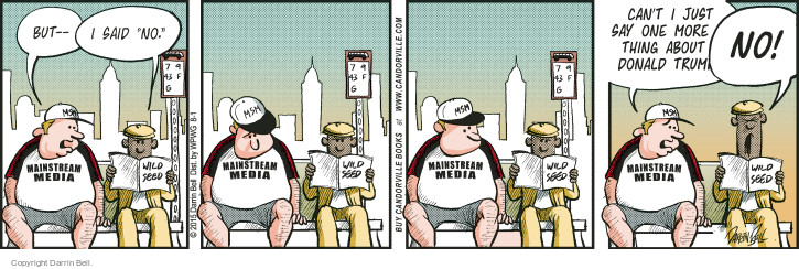Cartoonist Darrin Bell  Candorville 2015-08-01 mainstream media