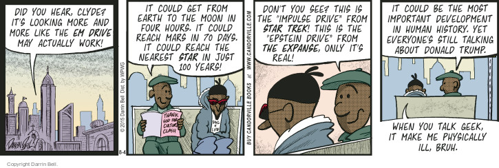 Comic Strip Darrin Bell  Candorville 2015-08-04 outerspace