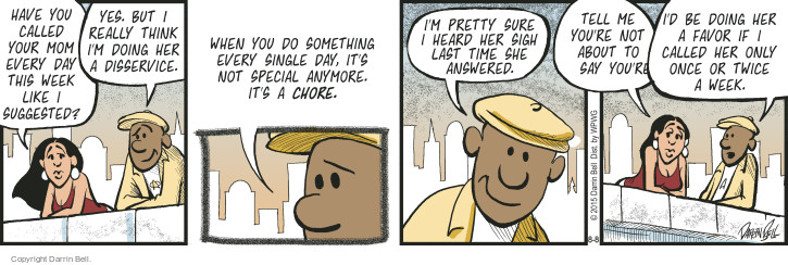 Comic Strip Darrin Bell  Candorville 2015-08-08 call