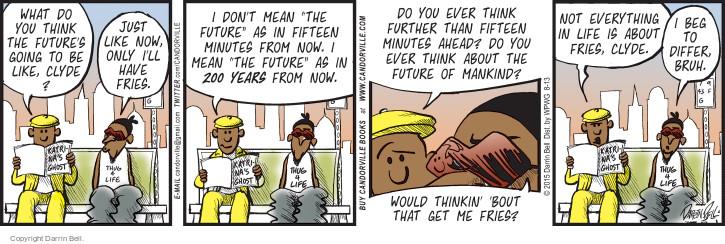 Cartoonist Darrin Bell  Candorville 2015-08-13 fate