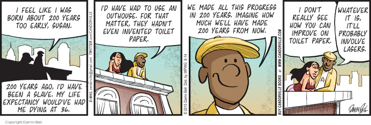 Comic Strip Darrin Bell  Candorville 2015-08-14 invent