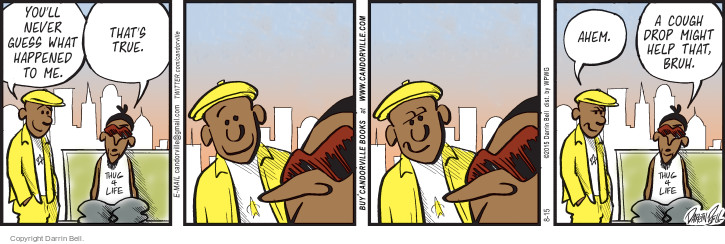 Comic Strip Darrin Bell  Candorville 2015-08-15 cough