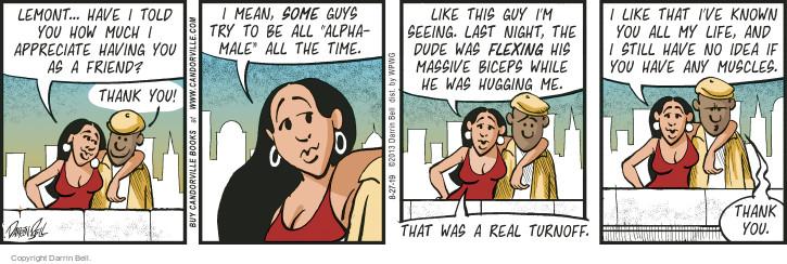 Comic Strip Darrin Bell  Candorville 2015-08-27 dude