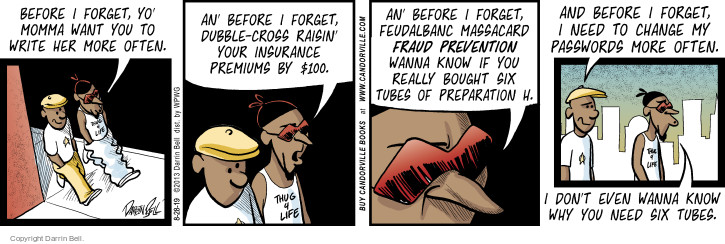 Comic Strip Darrin Bell  Candorville 2015-08-28 insurance premium