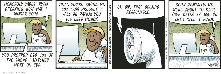Comic Strip Darrin Bell  Candorville 2015-08-29 cable