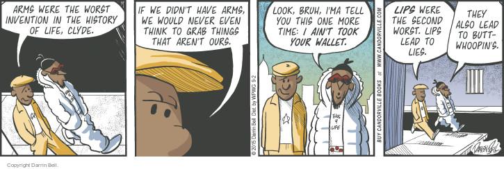 Comic Strip Darrin Bell  Candorville 2015-09-02 deception