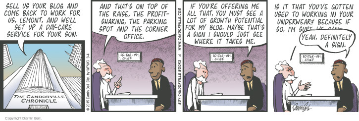 Comic Strip Darrin Bell  Candorville 2015-09-04 sign in