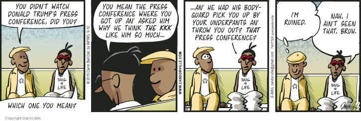Comic Strip Darrin Bell  Candorville 2015-09-10 conference