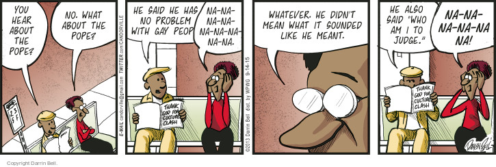 Comic Strip Darrin Bell  Candorville 2015-09-14 remark