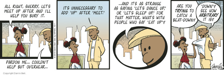 Comic Strip Darrin Bell  Candorville 2015-10-01 sleep