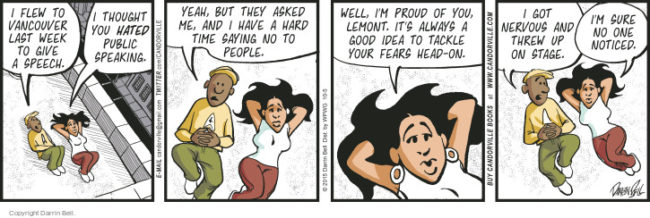 Comic Strip Darrin Bell  Candorville 2015-10-05 public speaking