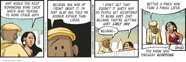 Comic Strip Darrin Bell  Candorville 2015-10-08 honesty