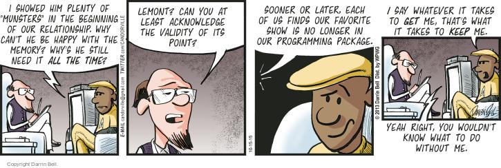 Comic Strip Darrin Bell  Candorville 2015-10-15 happy
