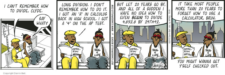 Comic Strip Darrin Bell  Candorville 2015-10-24 high school