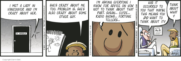 Cartoonist Darrin Bell  Candorville 2015-10-28 psychologist is in