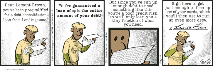 Comic Strip Darrin Bell  Candorville 2015-10-30 credit card