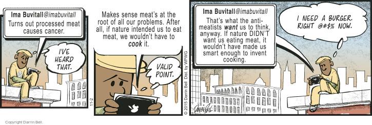 Comic Strip Darrin Bell  Candorville 2015-11-02 vegetarian