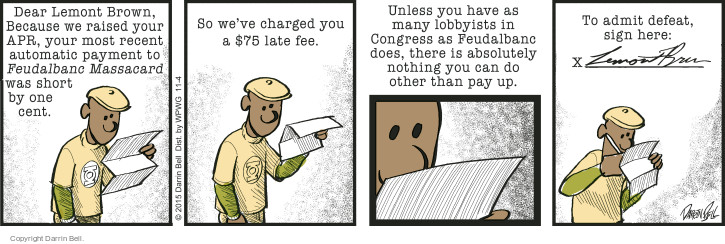 Comic Strip Darrin Bell  Candorville 2015-11-04 credit card