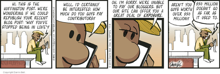 Comic Strip Darrin Bell  Candorville 2015-11-06 blogger