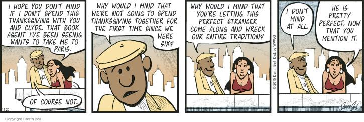 Comic Strip Darrin Bell  Candorville 2015-11-20 book