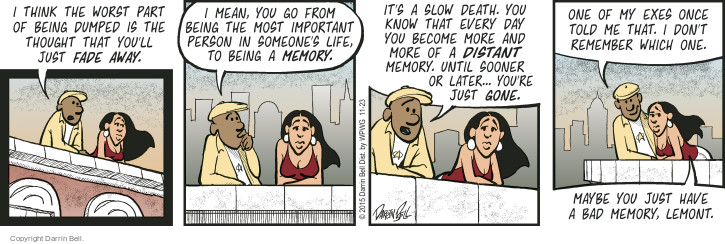 Comic Strip Darrin Bell  Candorville 2015-11-23 life or death