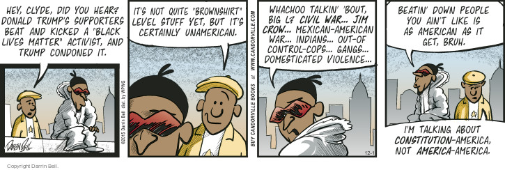 Comic Strip Darrin Bell  Candorville 2015-12-01 ethnic rights