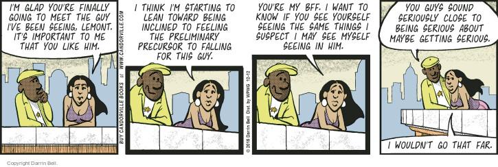 Comic Strip Darrin Bell  Candorville 2015-12-12 friendship