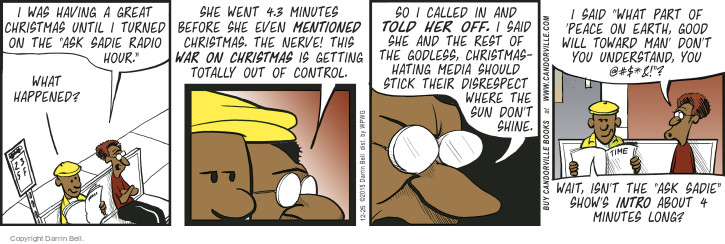 Comic Strip Darrin Bell  Candorville 2015-12-25 talk radio