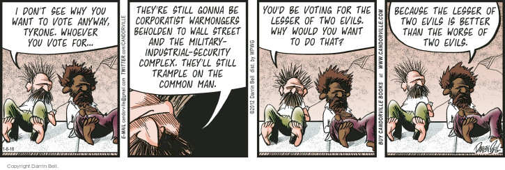 Comic Strip Darrin Bell  Candorville 2016-01-06 2012 election